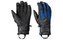 Outdoor Research Warrant - Gants - noir/bleu glacier